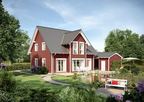 NORDHAUS - EcoPur 153 mit roter Holzfassade