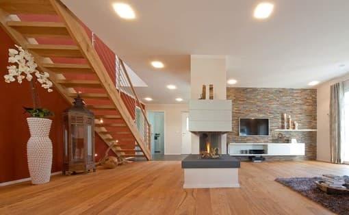 Offener Kamin im Wohnbereich