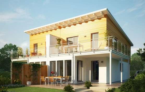Haus mit gelber Fassade