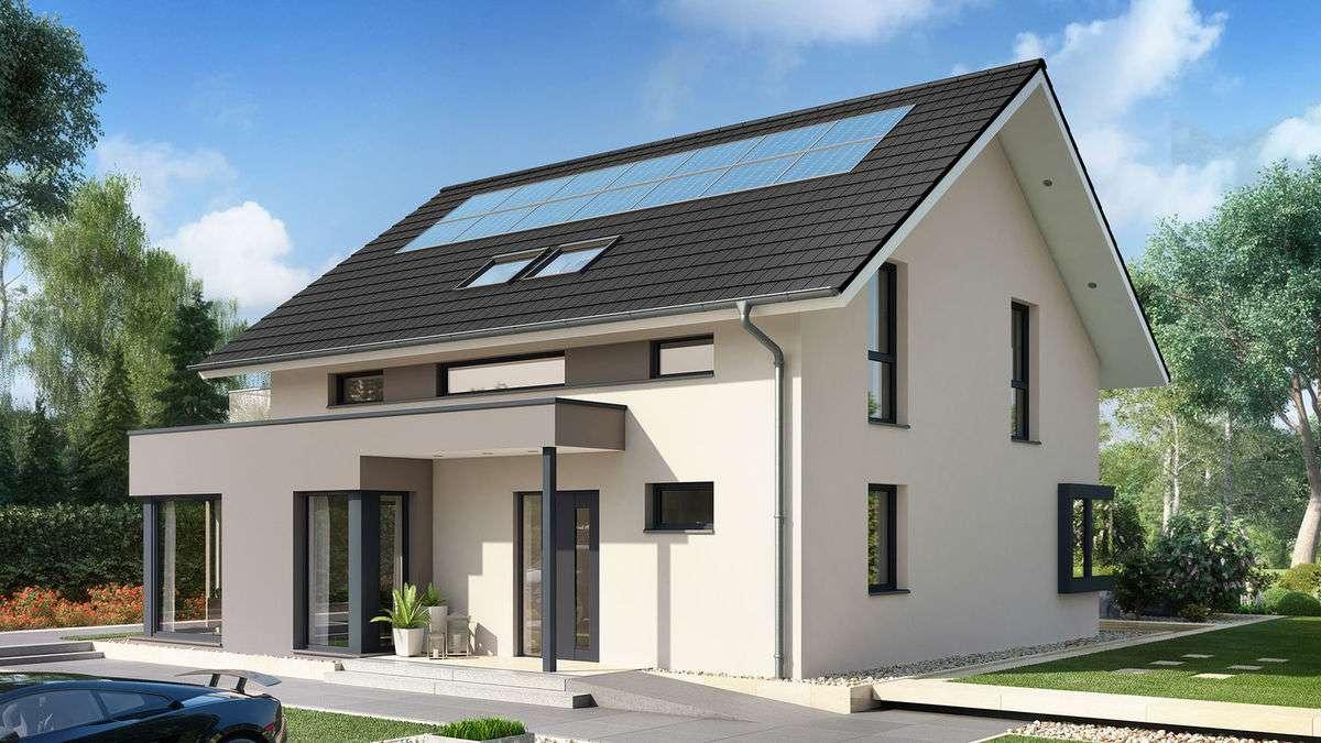 Bien-Zenker CONCEPT-M 159 Bad Vilbel - Elegantes Traumhaus mit Flachdach-Querhaus und innovativen Design-Eckfenstern