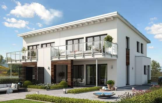 Villa mit Teilholzfassade