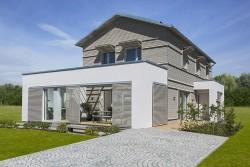 exklusives Holzdesignhaus