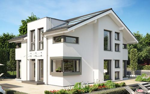 klassisch weiße Fassade