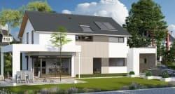 Musterhaus mit großer Terrasse